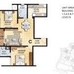 prestige-falcon-city-floor-plan-2-bhk-1230-sft