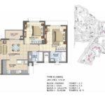 prestige_lakeside_habitat_floor_plan_2_bhk_1216_sft
